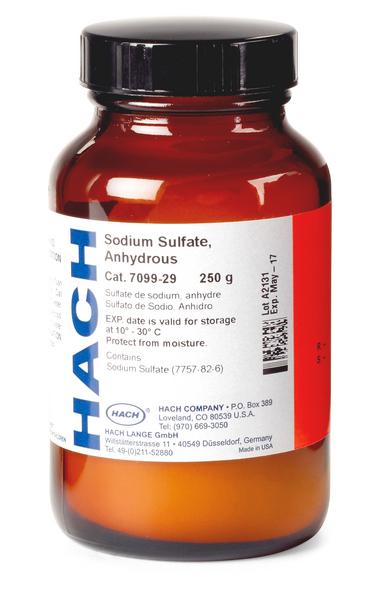 Безводный сульфат натрия 250 г  HACH