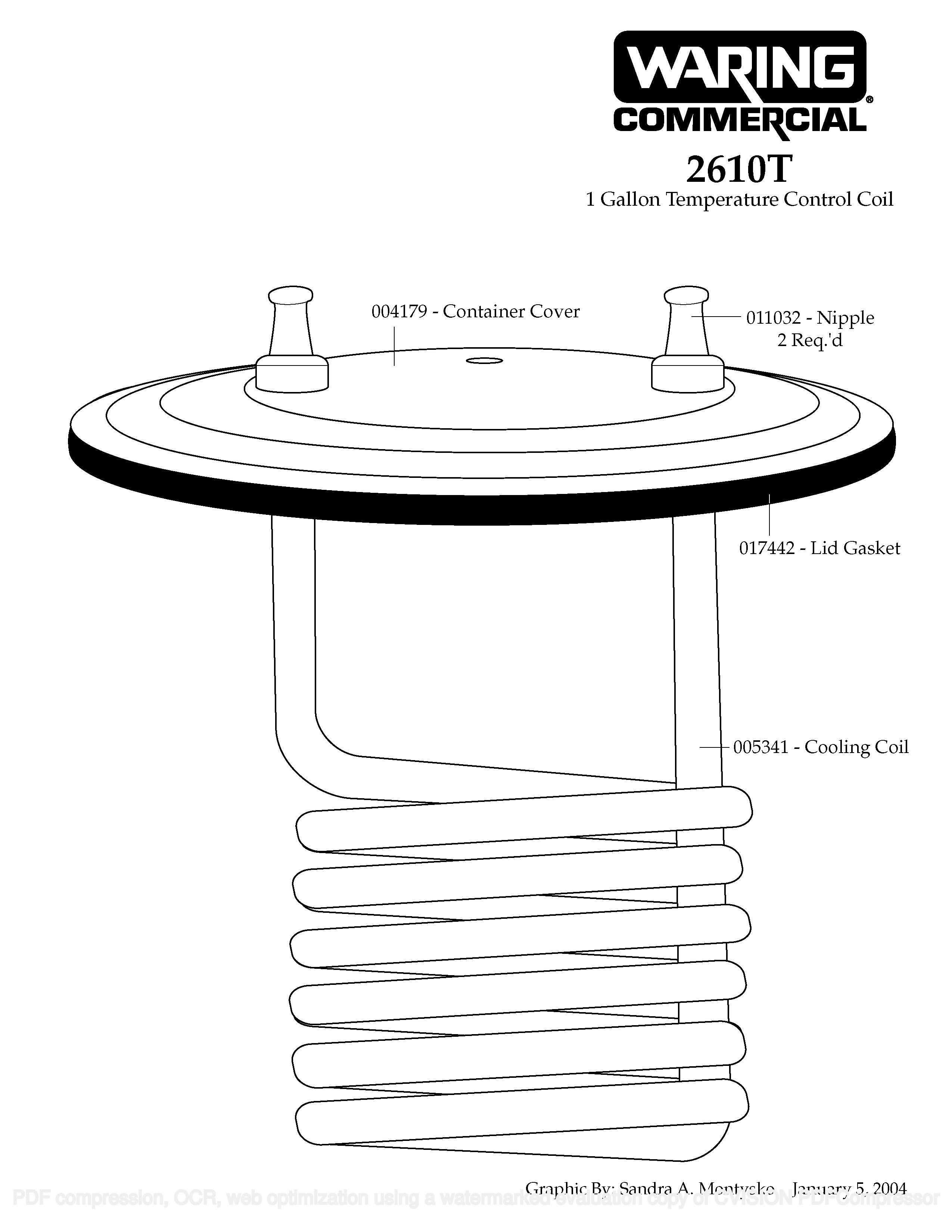 Катушка контроля температуры Waring 2610T Temperature Control Coil